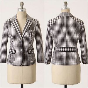 Anthropologie Taikonhu Checks and Balances Blazer